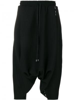 Укороченные брюки со шнурком на талии Alchemy. Цвет: чёрный