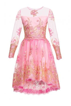 Платье из вискозы с искусственным шелком 164163 Msw Atelier. Цвет: розовый