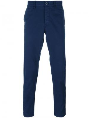Slim fit chinos Norse Projects. Цвет: синий