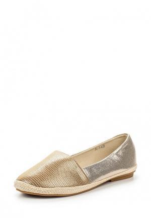 Эспадрильи Style Shoes. Цвет: золотой