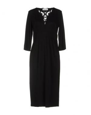 Платье до колена MARIA GRAZIA SEVERI. Цвет: черный