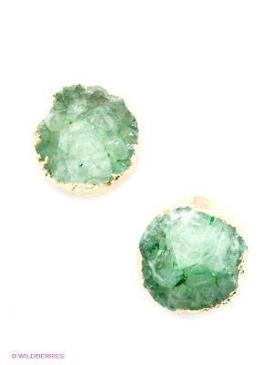 Серьги Kameo-bis. Цвет: зеленый, золотистый