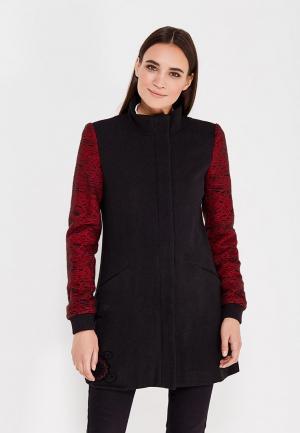 Пальто Desigual. Цвет: черный