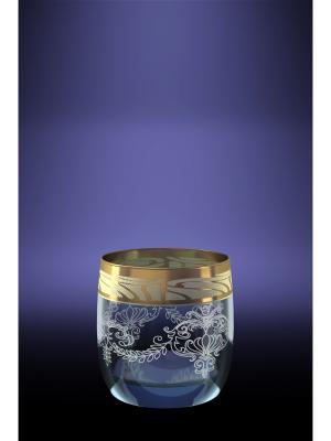 Набор 6 стаканов эдем для виски с рисунком мускат Гусь-Хрустальный. Цвет: прозрачный