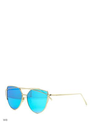 Солнцезащитные очки To be Queen. Цвет: голубой, зеленый