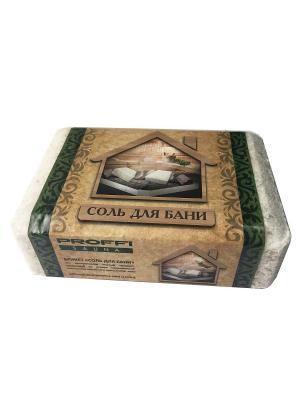 Соль морская для бани и сауны, брикет 0,75 кг PROFFI. Цвет: белый