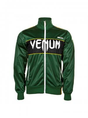 Олимпийка Venum Team Brazil Polyester Jacket Green. Цвет: зеленый