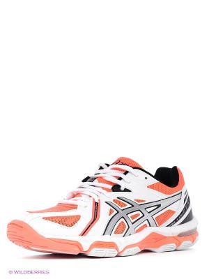 Волейбольные кроссовки Gel-Volley Elite 3 ASICS. Цвет: оранжевый, белый, серебристый