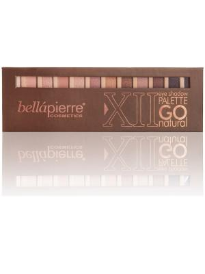 Bellapierre cosmetics TEP002 Go Natural Палитра из 12 компактных пигментов. Цвет: бежевый