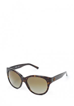Очки солнцезащитные DKNY. Цвет: коричневый