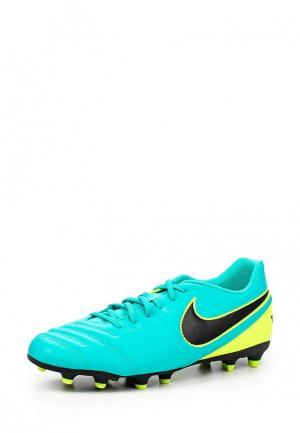 Бутсы Nike. Цвет: бирюзовый