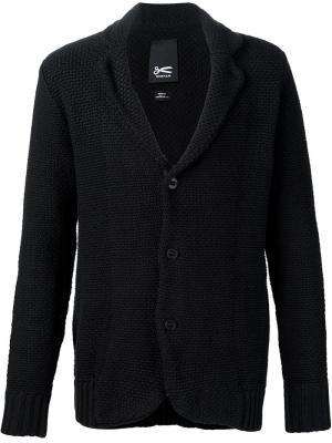 Трикотажный пиджак Denham. Цвет: чёрный
