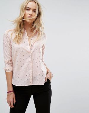 Maison Scotch Рубашка с принтом ключей. Цвет: розовый