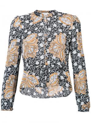 Рубашка с цветочным узором A.L.C.. Цвет: чёрный
