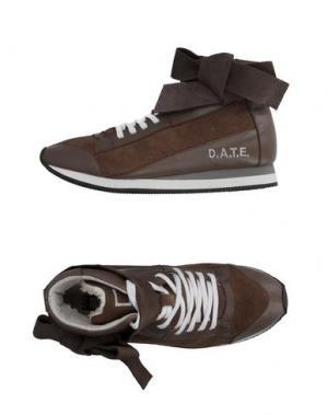 Высокие кеды и кроссовки D.A.T.E.. Цвет: светло-коричневый