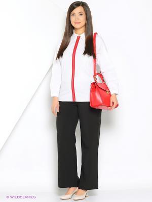 Блузка SVESTA. Цвет: белый, красный