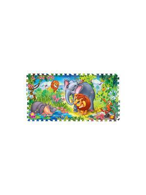 Коврик-пазл Играем Вместе мамонтенок. Цвет: серый, голубой, коричневый
