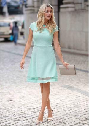 Платье MY STYLE. Цвет: мятный