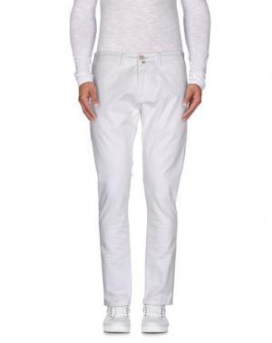 Повседневные брюки CANTARELLI. Цвет: белый