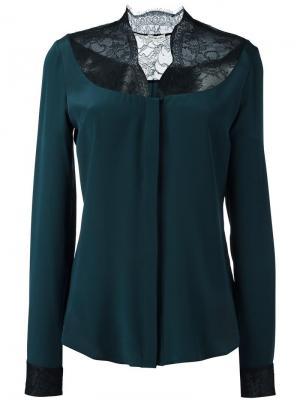 Блузка с кружевной вставкой Emanuel Ungaro. Цвет: зелёный