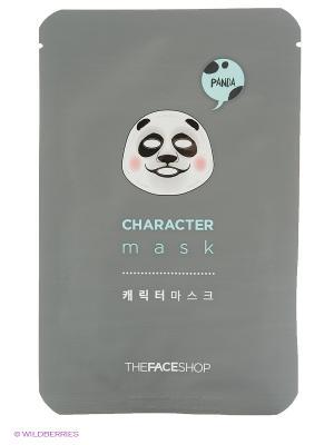 Тканевая маска для лица (Панда), 20г The Face Shop. Цвет: белый