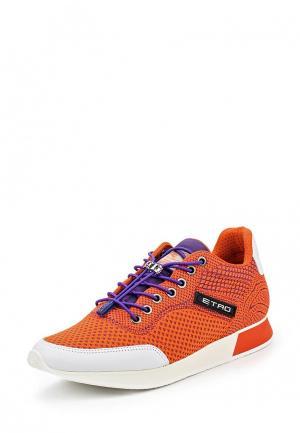 Кроссовки Etro. Цвет: оранжевый