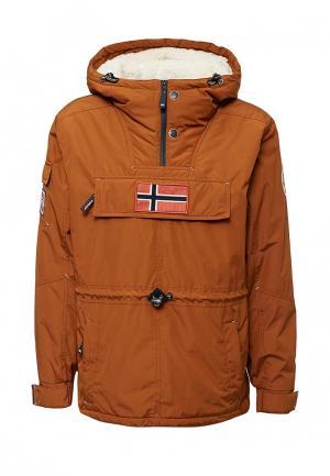 Куртка утепленная Fergo. Цвет: коричневый