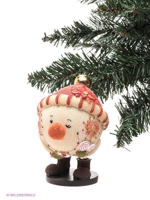 Статуэтка Mister Christmas. Цвет: светло-бежевый, коричневый, красный