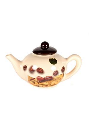 Чайник заварочный 07л. МоКа Sestesi. Цвет: белый