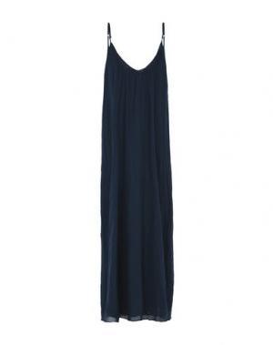 Длинное платье LOCAL APPAREL. Цвет: темно-синий
