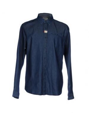 Джинсовая рубашка TOMMY HILFIGER DENIM. Цвет: синий