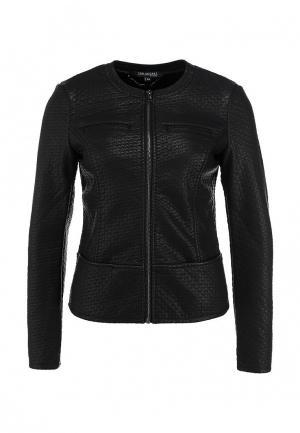 Куртка кожаная Top Secret. Цвет: черный