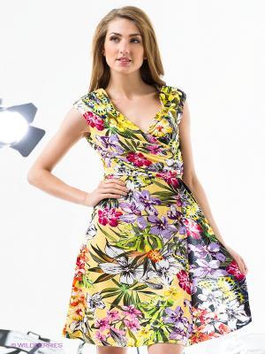 Платье Rene Derhy. Цвет: желтый