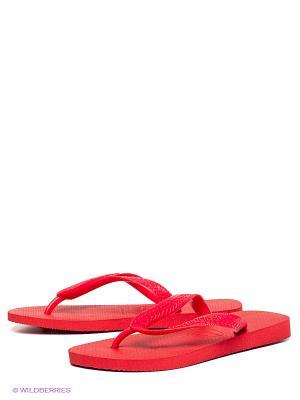 Шлепанцы Havaianas. Цвет: красный