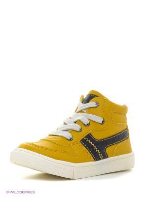 Ботинки KENKA. Цвет: желтый