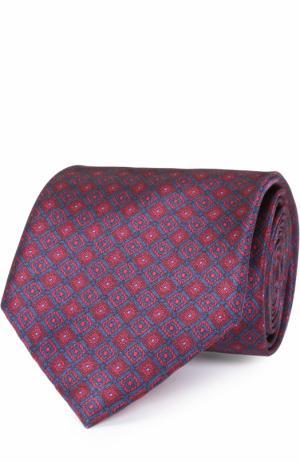 Комплект из шелкового галстука и платка Brioni. Цвет: красный