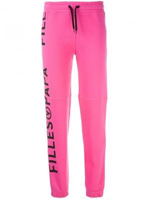 Спортивные брюки Kenny Cotton Filles A Papa. Цвет: розовый и фиолетовый