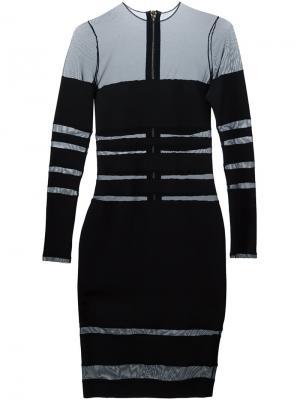 Платье с прозрачными панелями Alexandre Vauthier. Цвет: чёрный