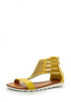 Сандалии Sweet Shoes. Цвет: желтый