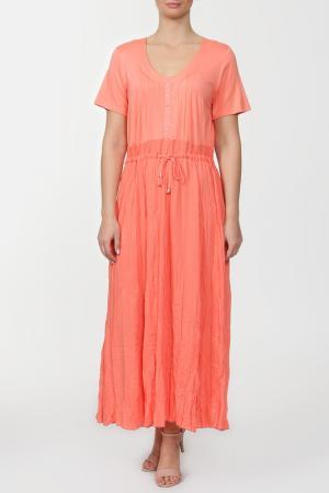Платье PARMO&SINIORITA. Цвет: персиковый