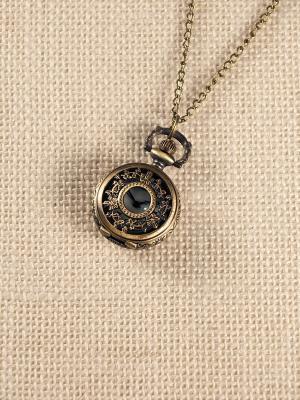 Кулон-часы Бабочки и бантики Mitya Veselkov. Цвет: бронзовый