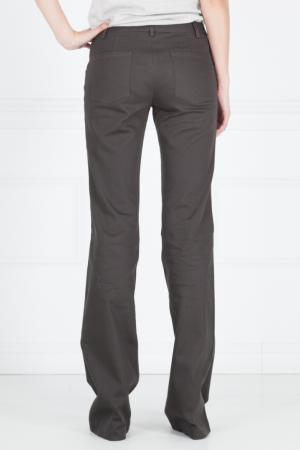 Хлопковые брюки Thakoon. Цвет: коричневый