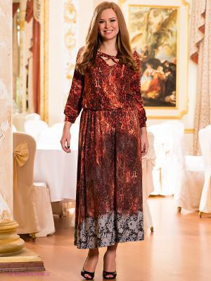 Платье МадаМ Т. Цвет: терракотовый, черный, серый