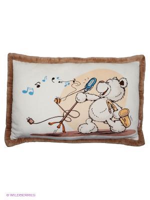 Подушка  Медвежонок кремовый , 64*42 см NICI. Цвет: коричневый