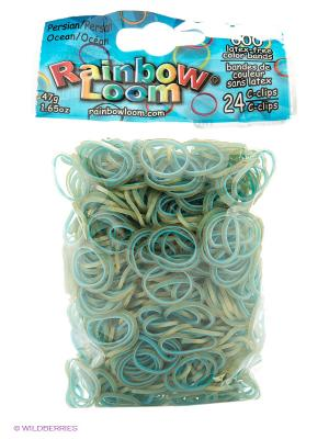 Резиночки Голубой. Персидская коллекция RAINBOWLOOM. Цвет: голубой, бежевый