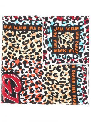 Леопардовый платок Girl Gang Lala Berlin. Цвет: многоцветный