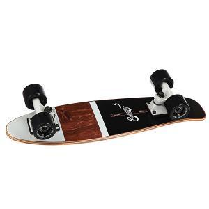 Скейт мини круизер  Shelby Black 6.25 x 23 (58.4 см) Eastcoast. Цвет: белый,черный,коричневый