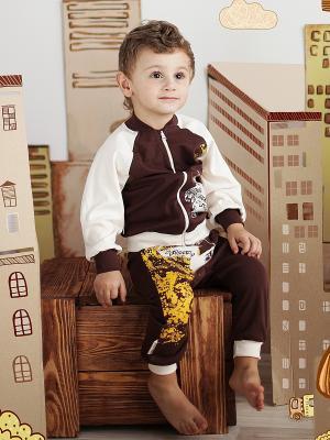 Кофта Lucky Child. Цвет: коричневый, кремовый