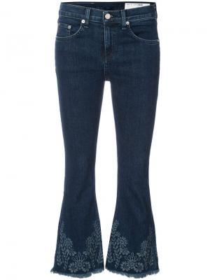 Укороченные расклешенные джинсы Rag & Bone /Jean. Цвет: синий