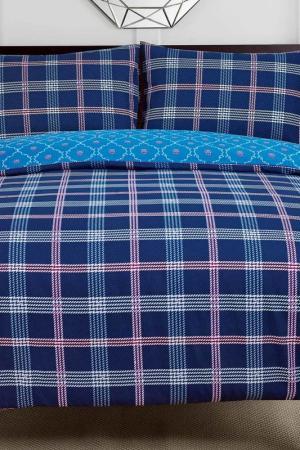 Постельное белье 1,5 сп, 70x70 СIOCCOLATO. Цвет: синий
